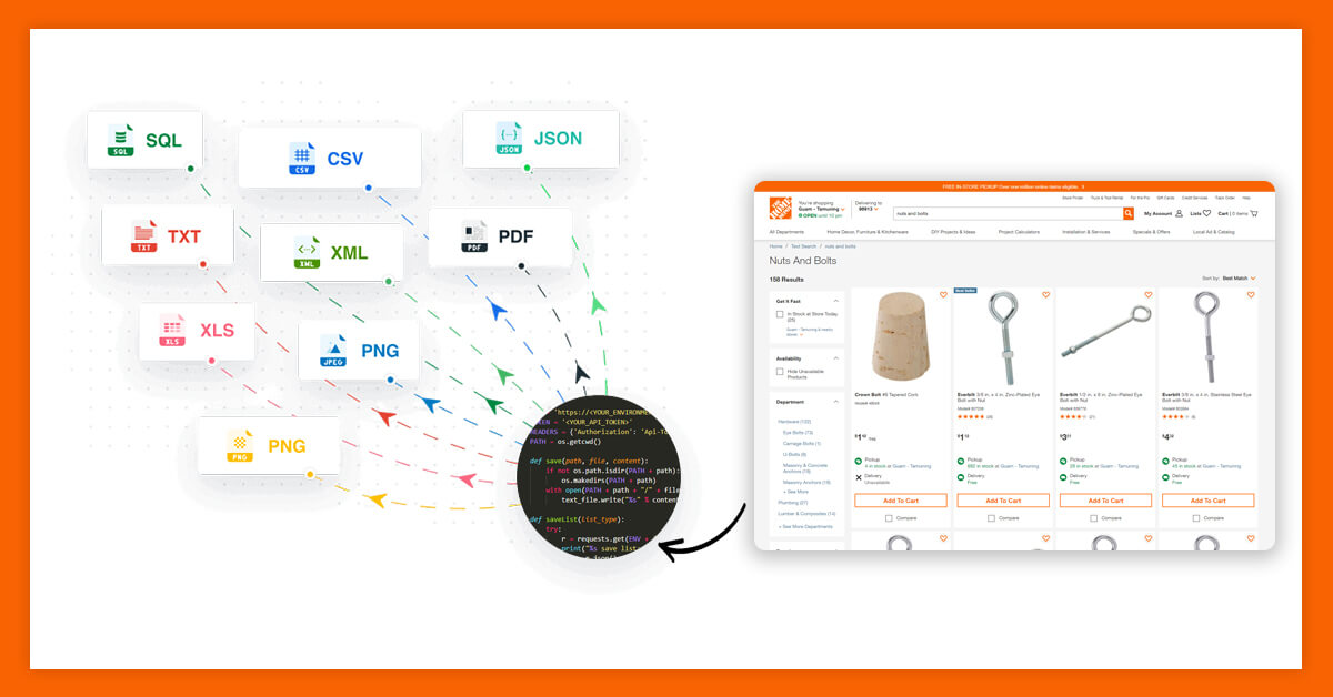 Collect Data from Home Depot API